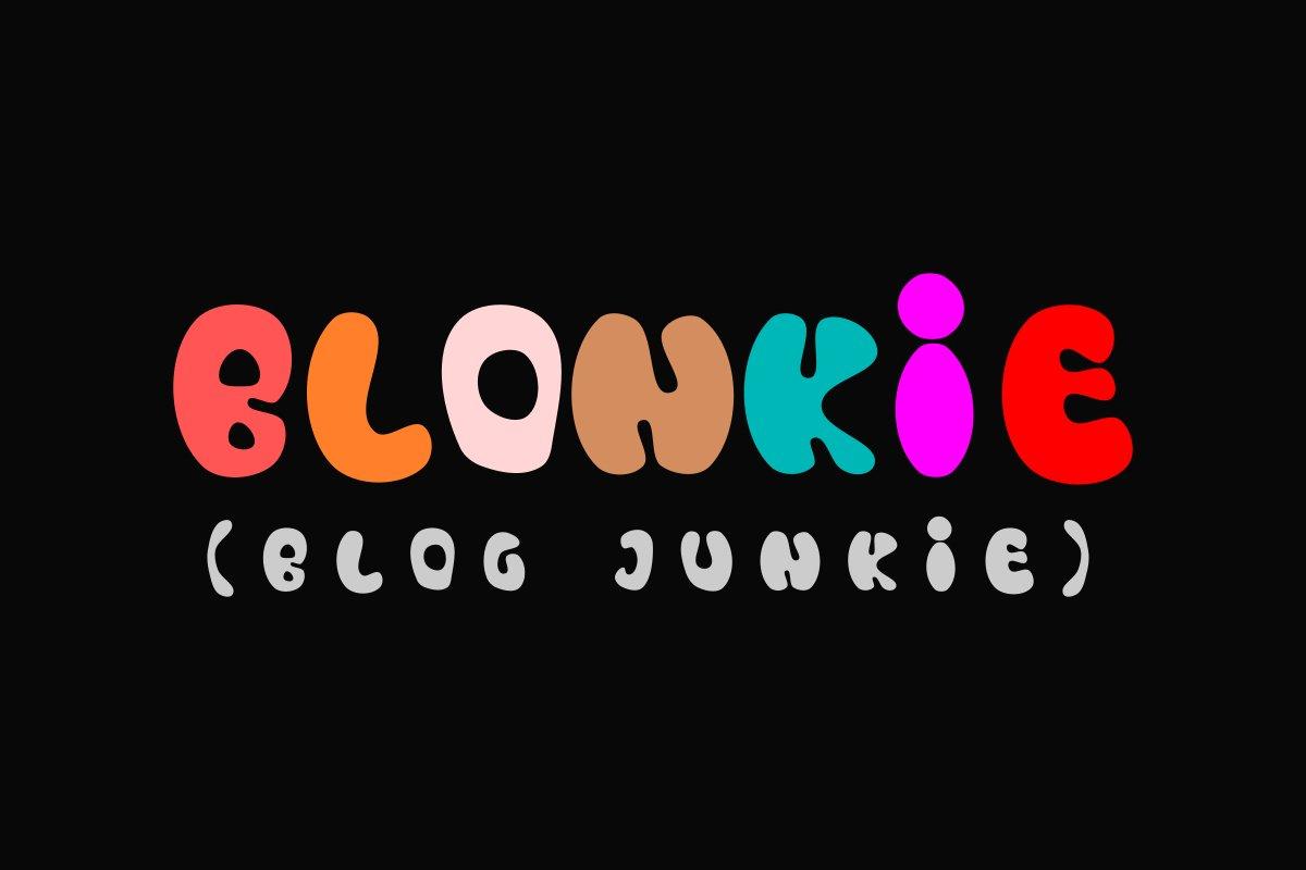 Blonkie Display Font example image 1