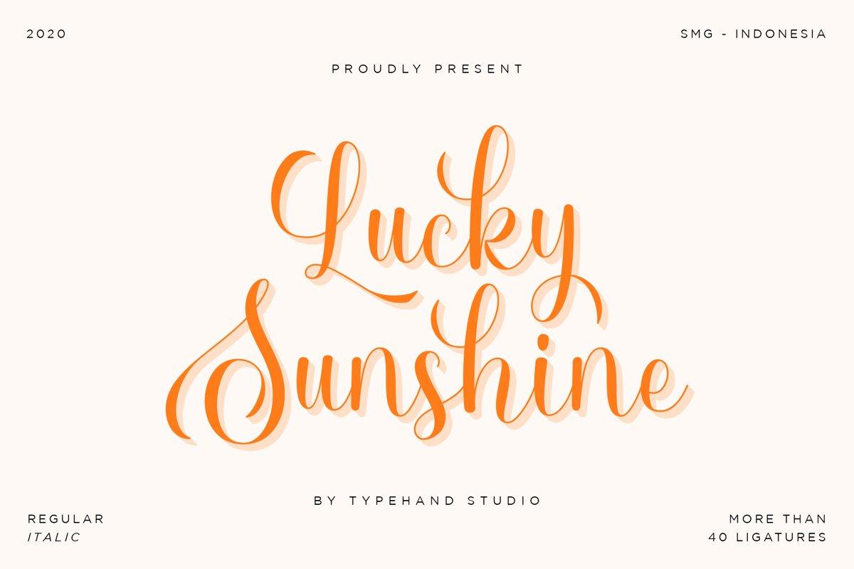 Lucky Sunshine example image 1