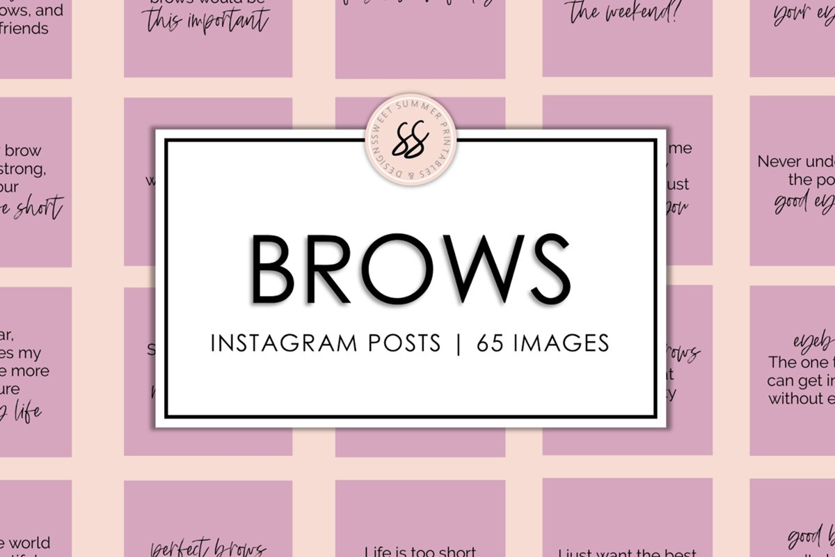 Brows Dusty Rose Instagram Posts example image 1