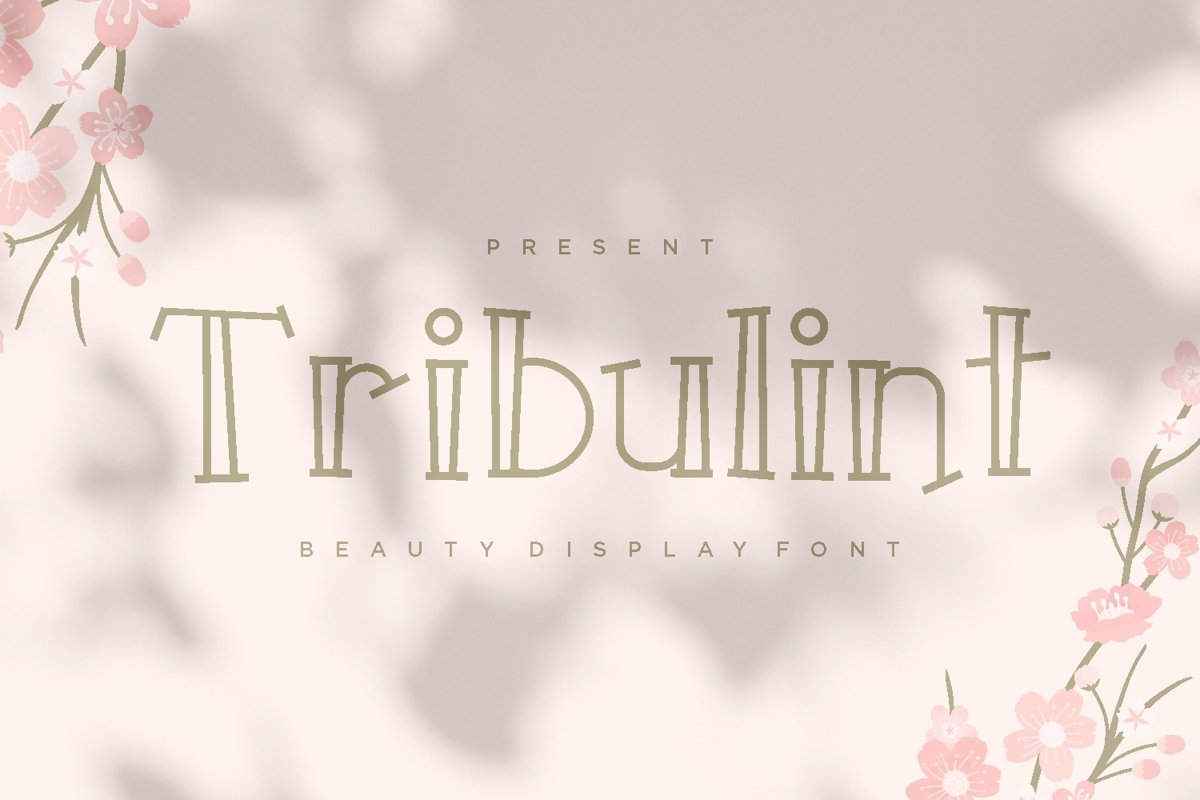 Tribulint - Beauty Display Font example image 1