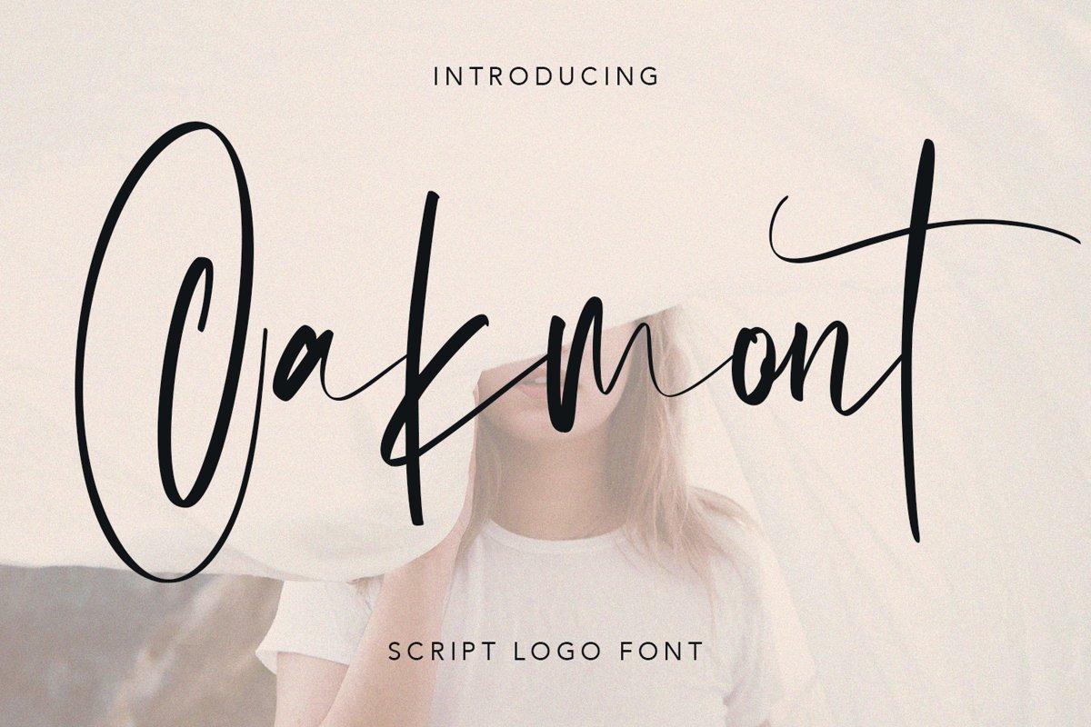 Oakmont Script Logo Handmade Font example image 1