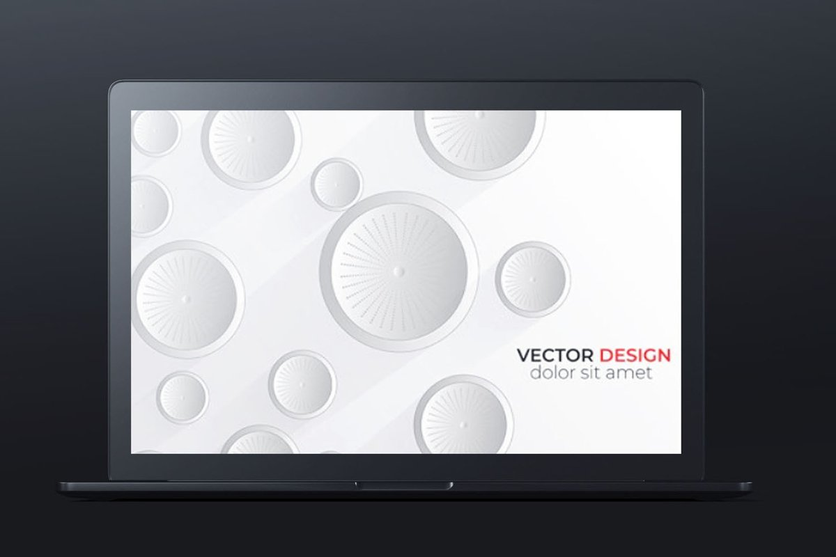 Abstract 3D white circle abstract background design. vector example image 1
