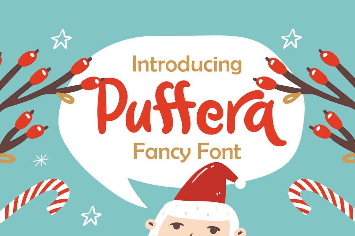 Puffera - Fancy Font example image 1