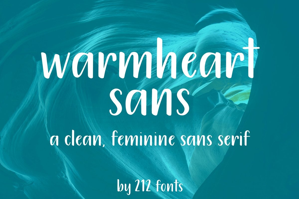 212 Warmheart Sans Serif Clean Handwritten OTF Font example image 1