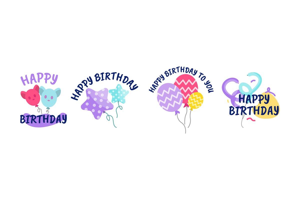 Happy Birthday Illustrations example image 1