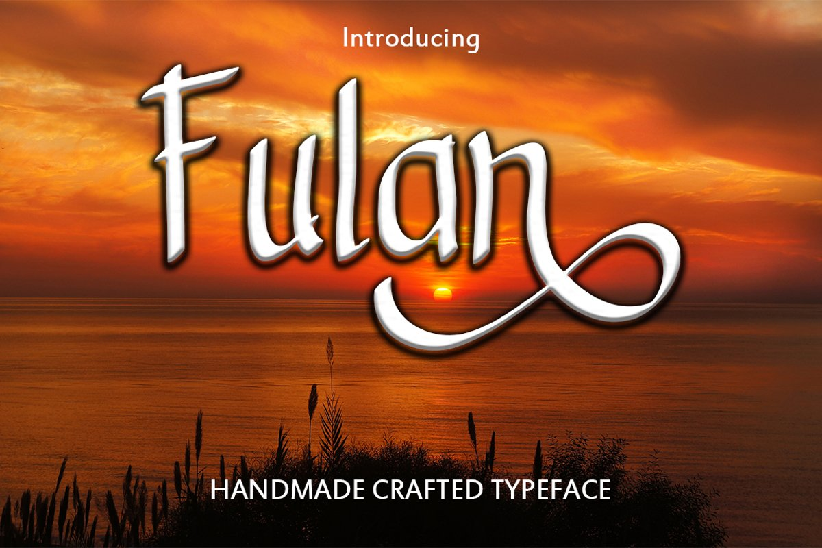 Fulan - Handmade Font  example image 1