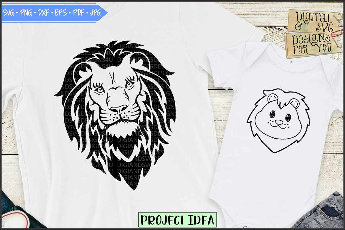 Lion and lion cub - Dad and son shirt design example image 1