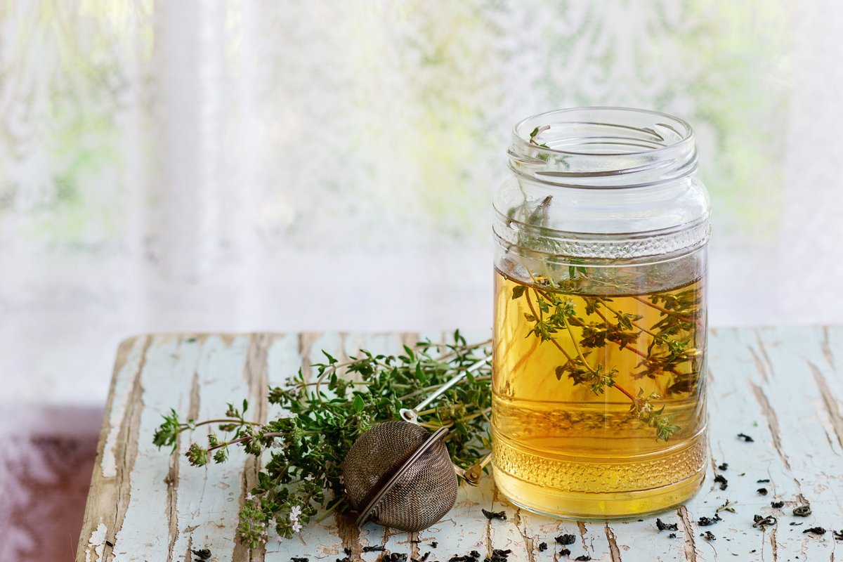 Hot thyme tea example image 1