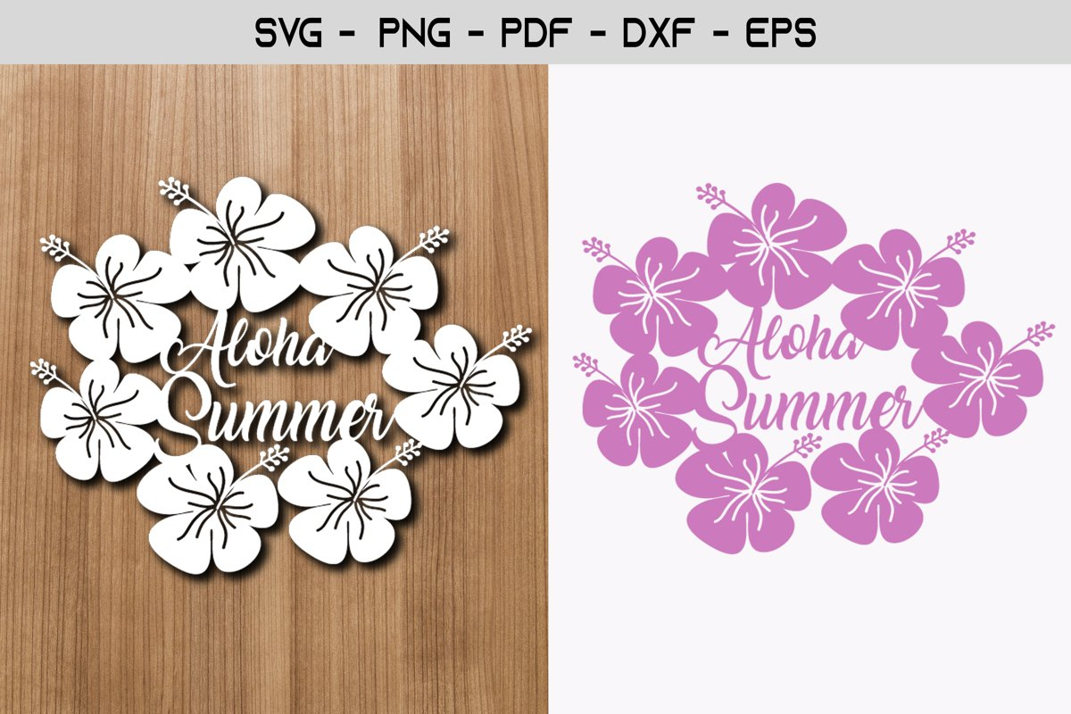 Aloha Summer Paper Template Design example image 1