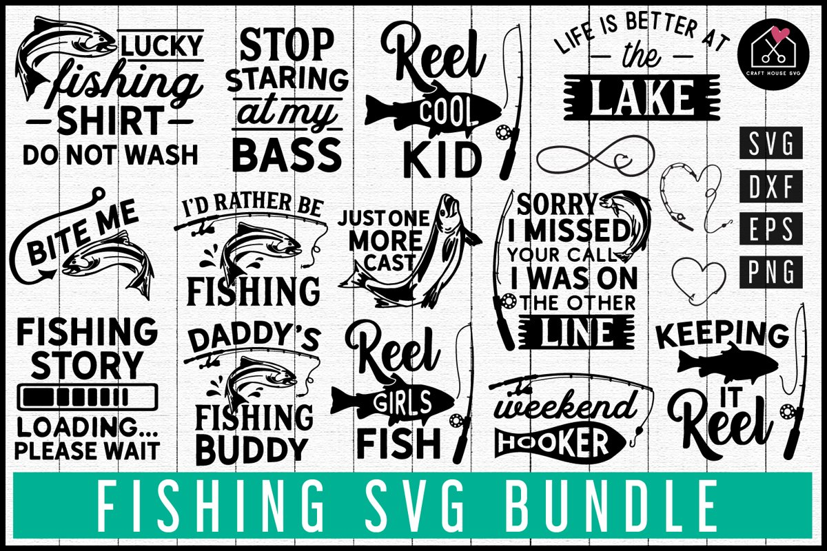 Fishing SVG Bundle | MB78 example image 1