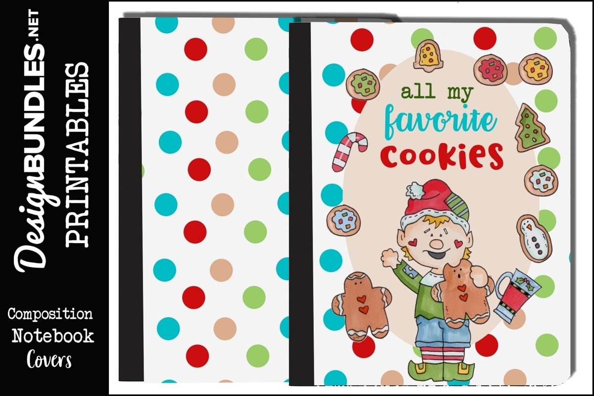 Christmas Cookies-Composition Book Pages example image 1
