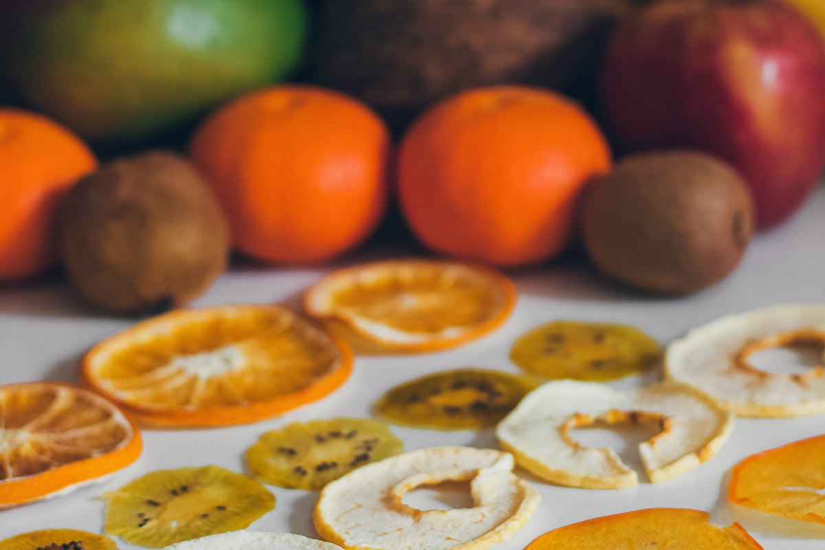 Dried homemade healthy fresh dehydrated slices of fruits. example image 1