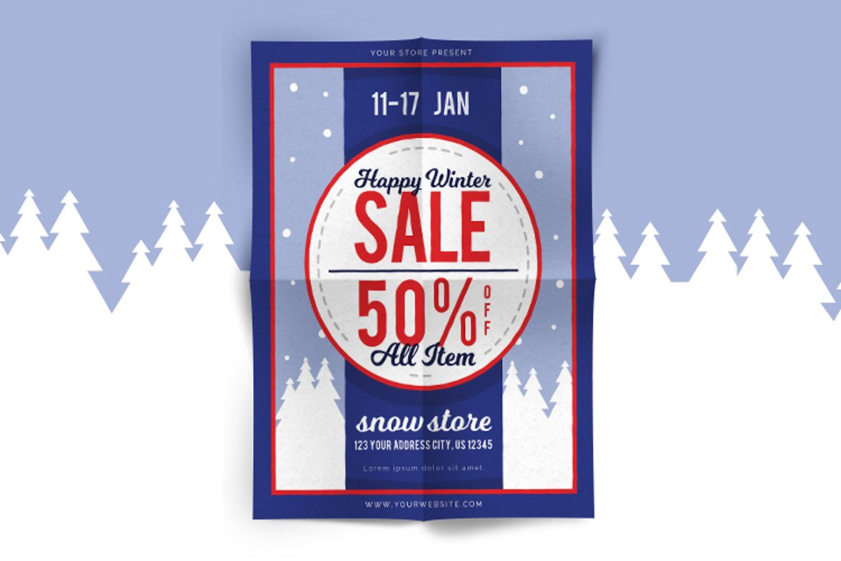 Winter Sale Flyer 2 example image 1