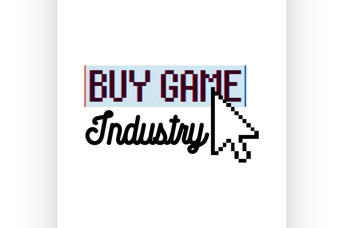 Color vintage game industry emblem example image 1