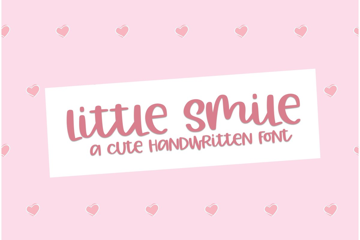 Little Smile - A Cute Hand-Written Font example image 1