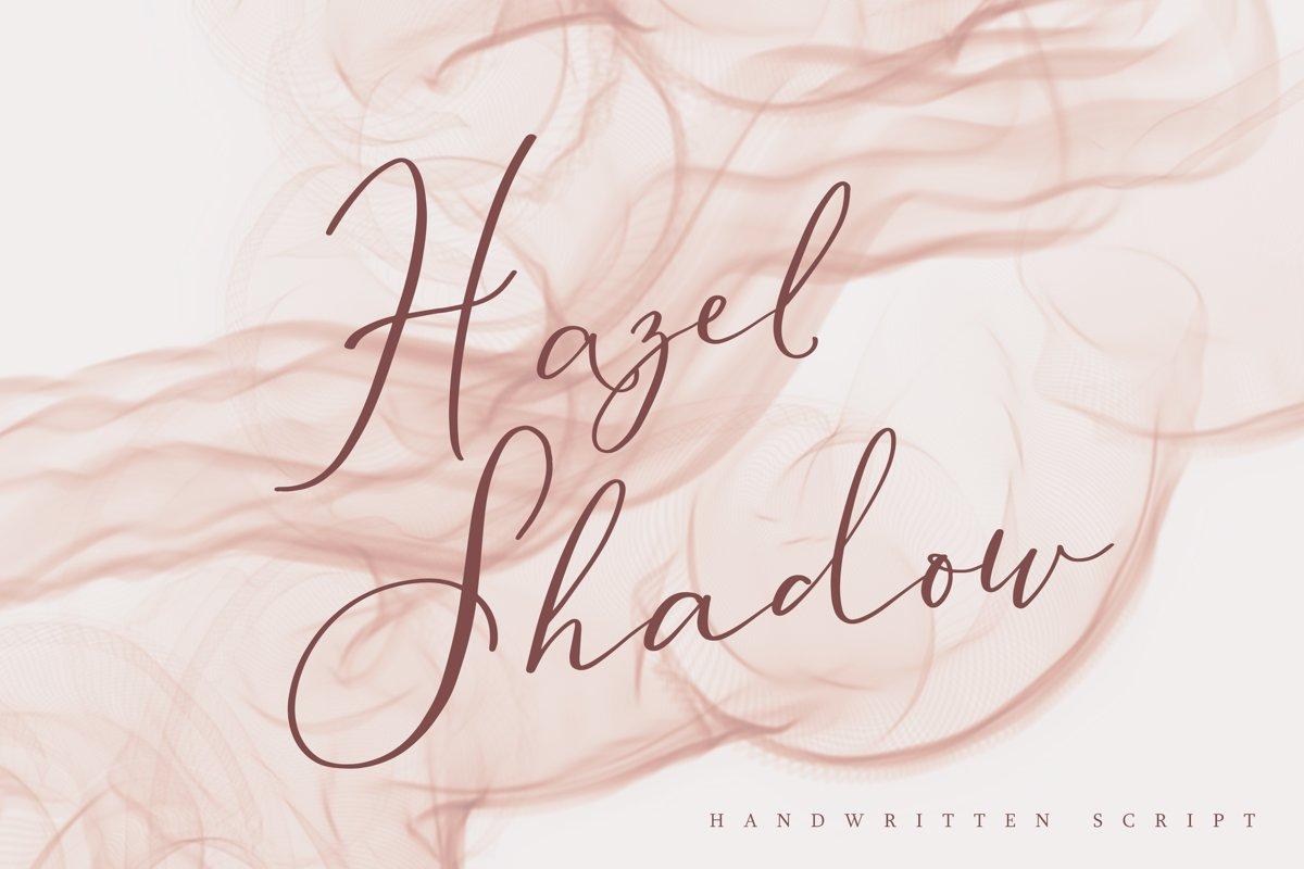 Hazel Shadow, beautiful calligraphy font example image 1
