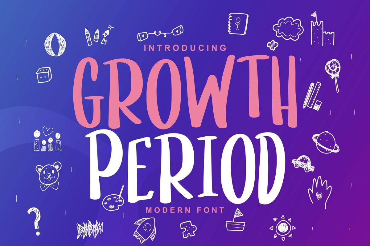 Growth Period | Kids Modern Font example image 1