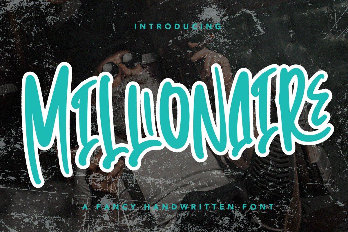 Millionaire - Handwritten Font example image 1
