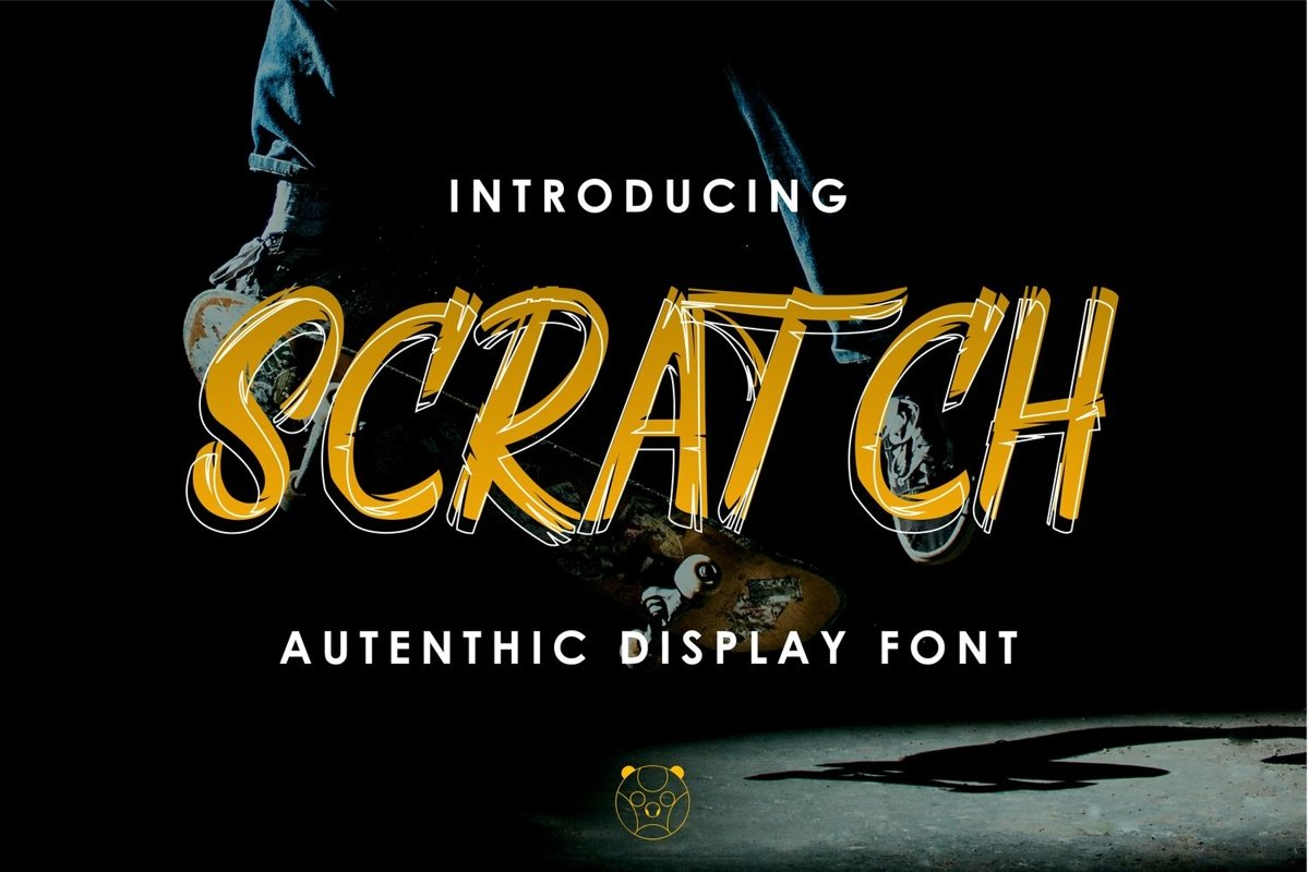 Scratch Autencthic Display Font example image 1