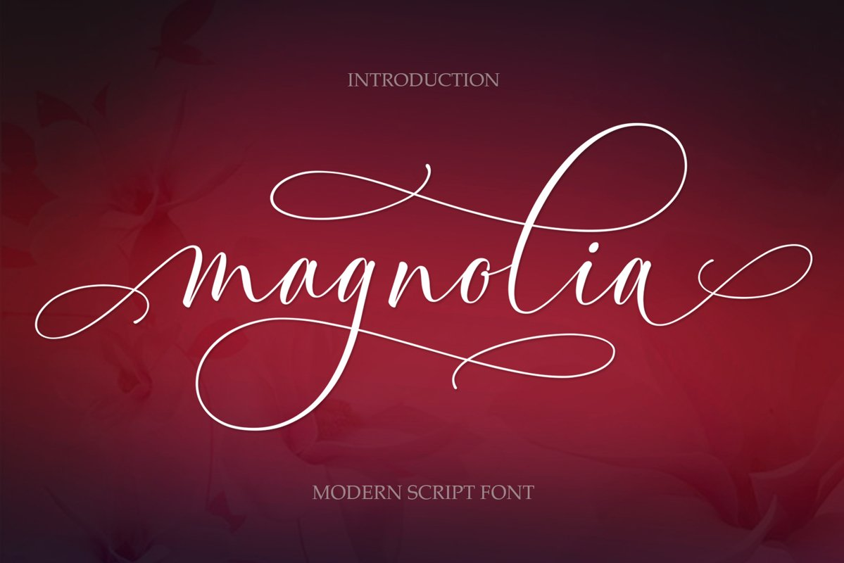 Magnolia Modern Script example image 1