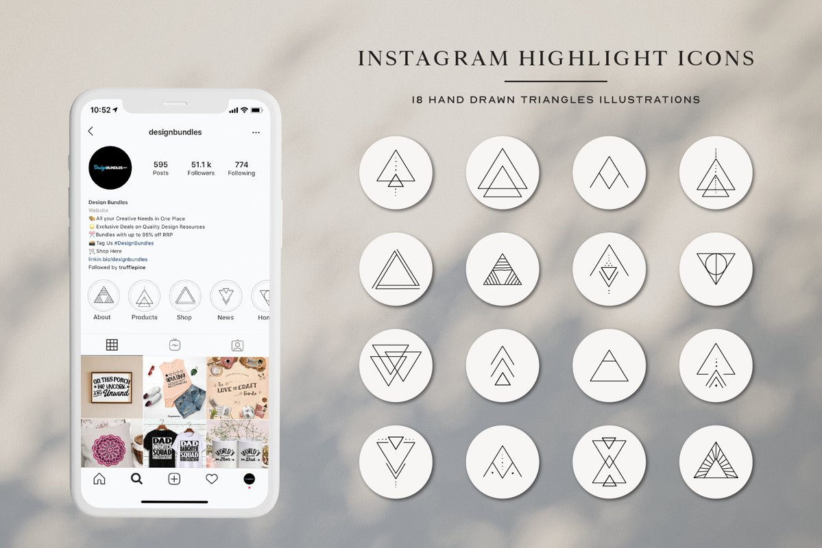 Instagram Triangles Highlights Icons | Instagram Story Cove example image 1