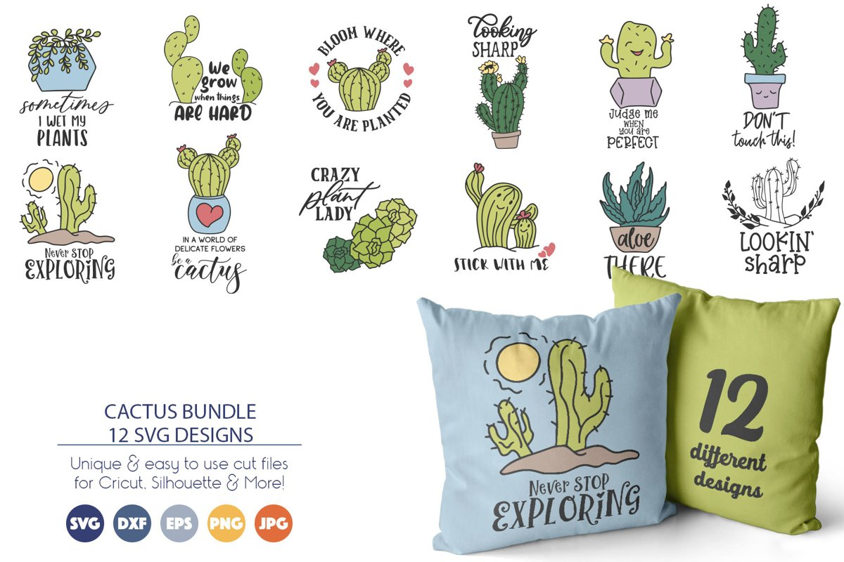 Cactus SVG Bundle | Flowers SVG example image 1