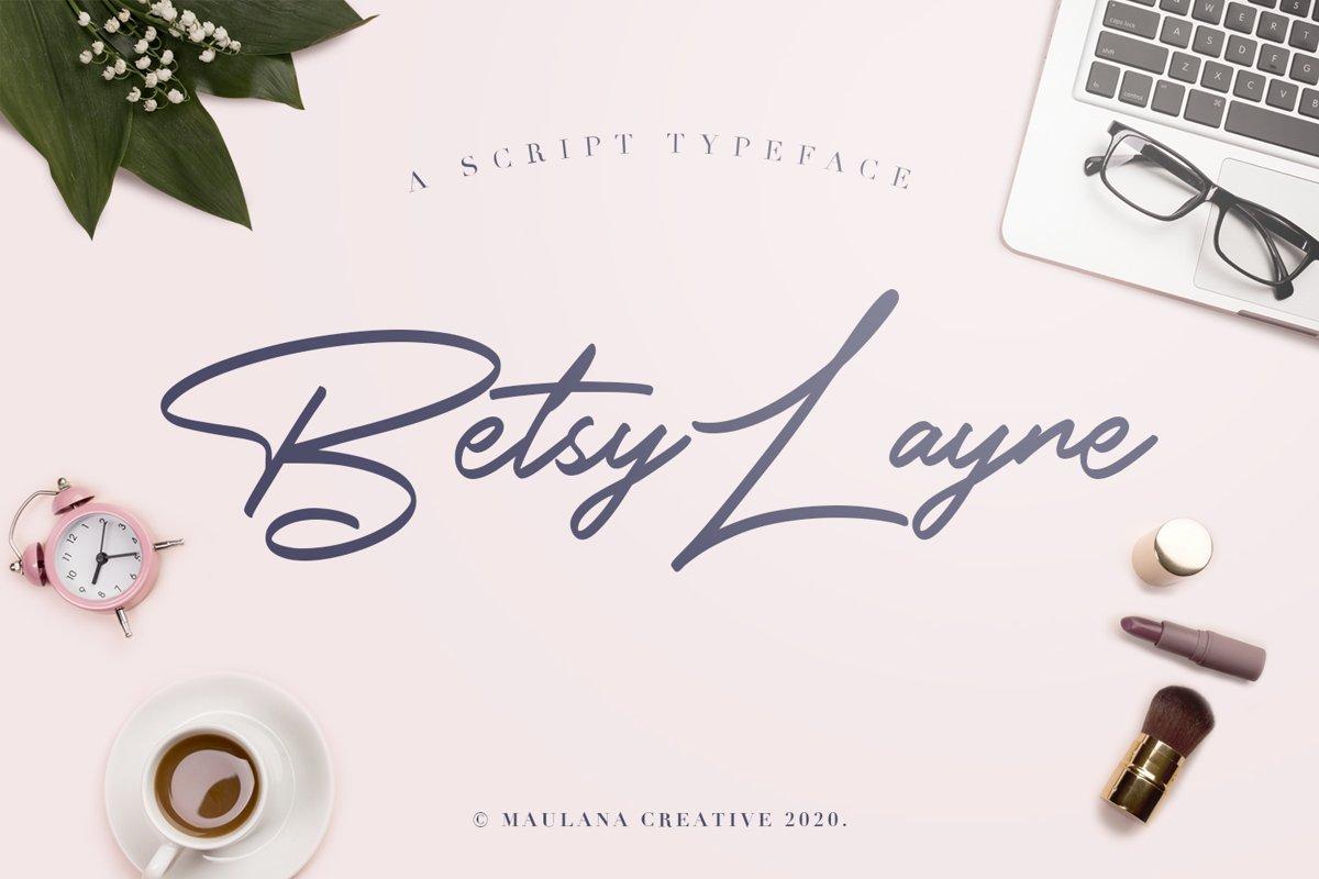 Betsy Layne - Handwritten Signature Handmade Font example image 1