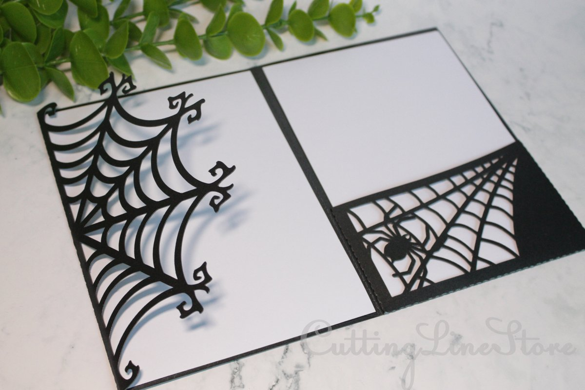Halloween invitation template, Gothic wedding invitation svg example image 1