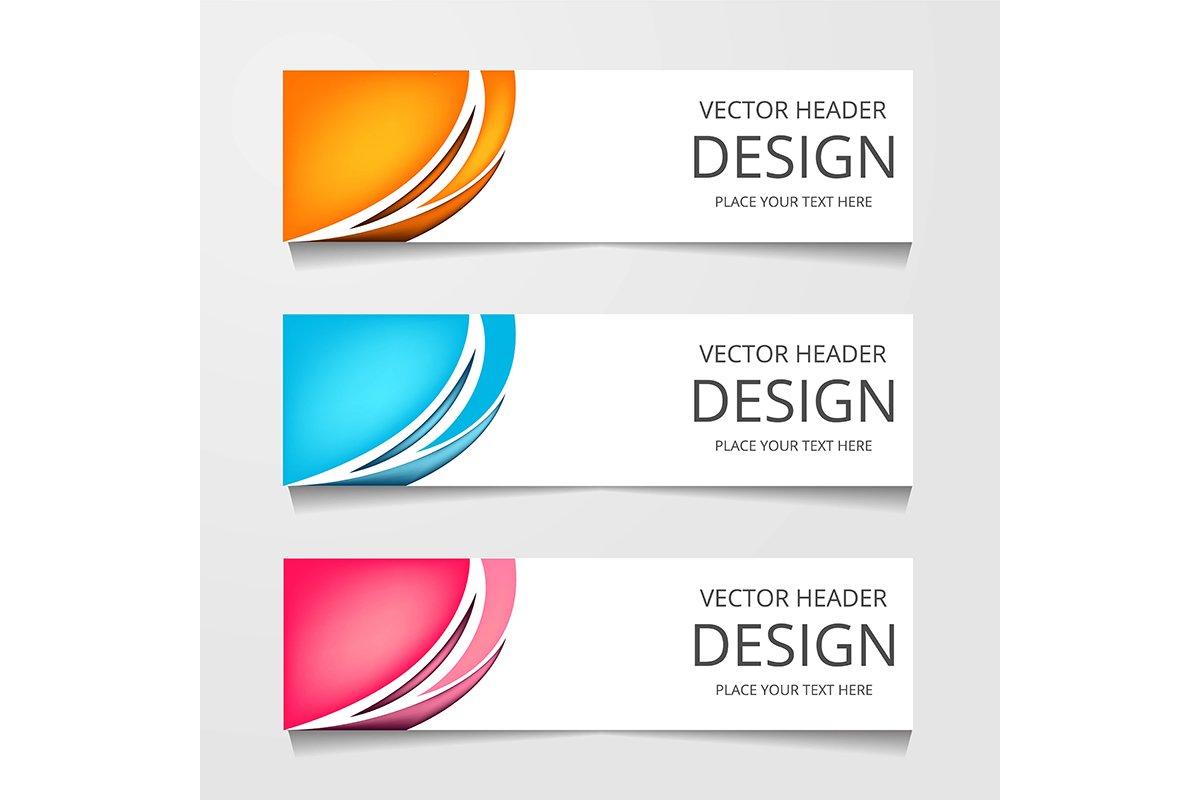 Set Of Modern Global Business Design Banner Template example image 1