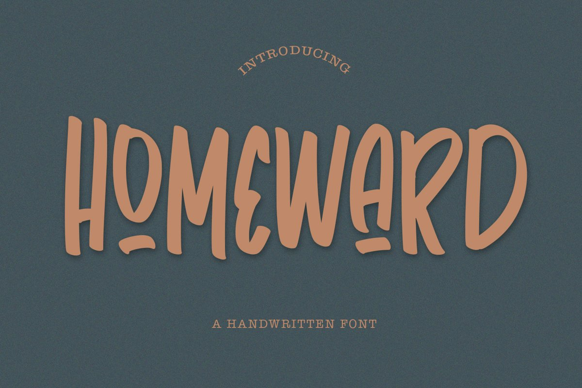 Homeward - Handwritten Font example image 1