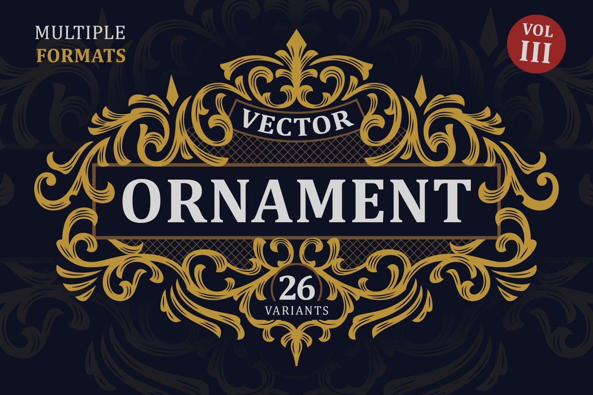 Victorian Vector Ornaments Vol. III example image 1