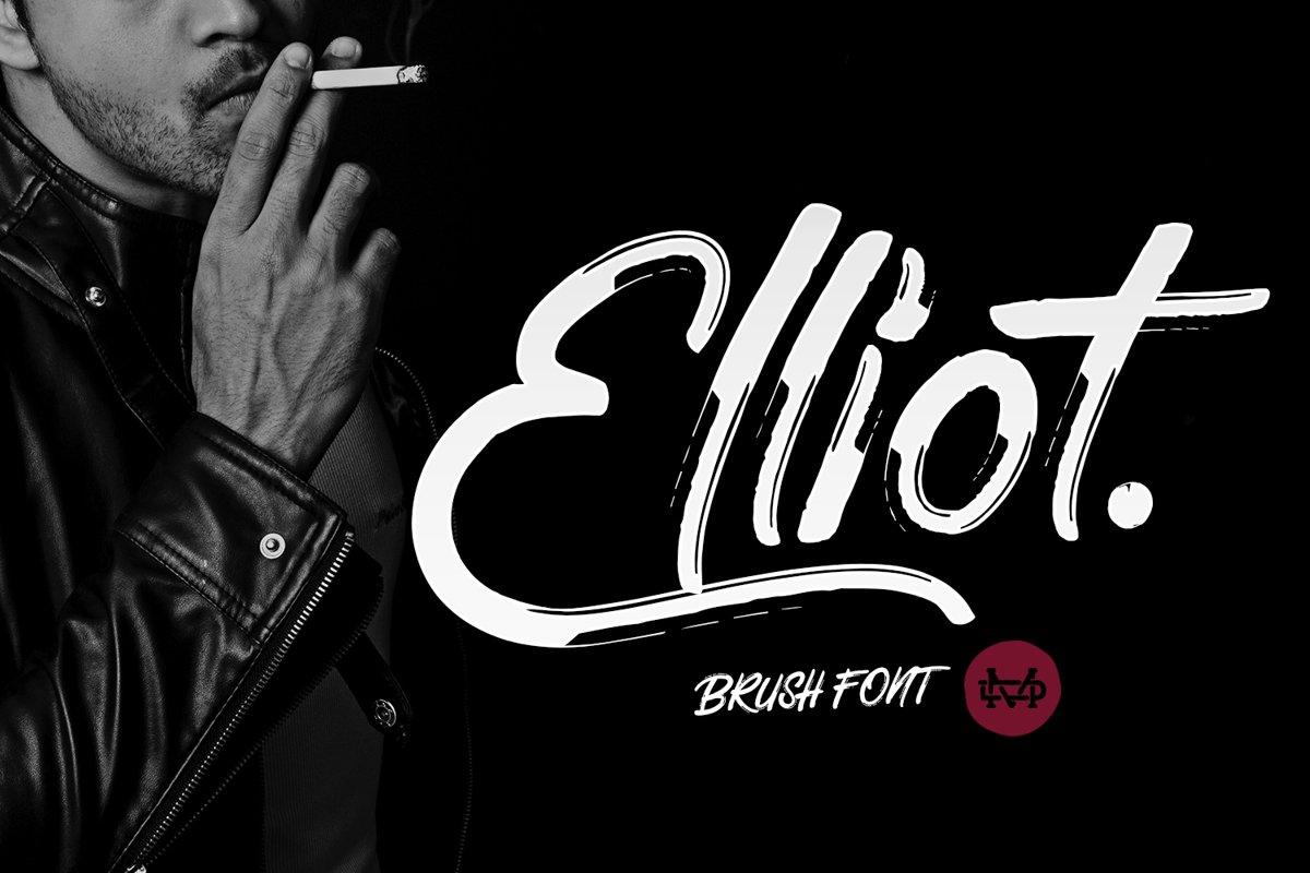 Elliot Brush Font example image 1
