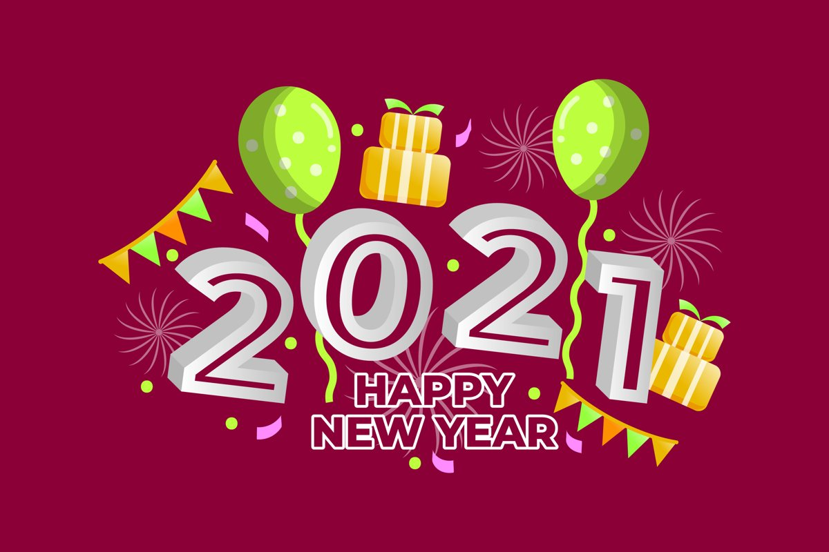 New Year Illustrations example image 1