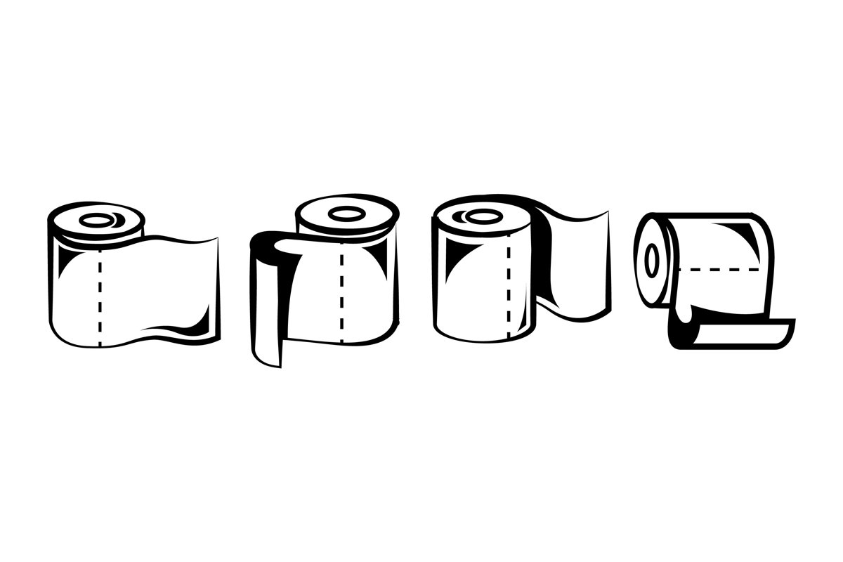 Toilet Paper Silhouettes example image 1