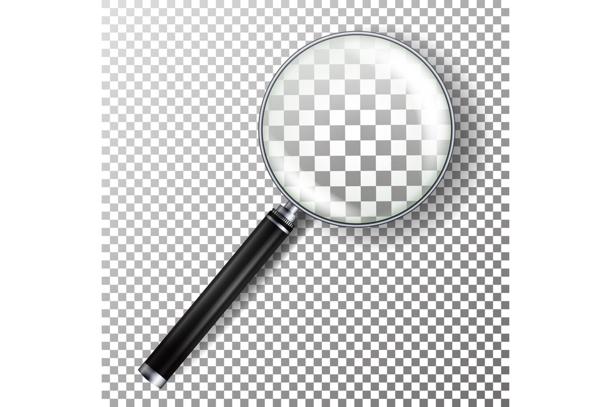 Realistic Magnifying Glass Vector. example image 1