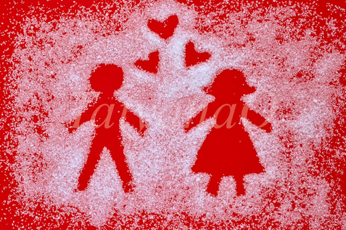 Trendy minimal concept of Valentine's day, wedding, love example image 1