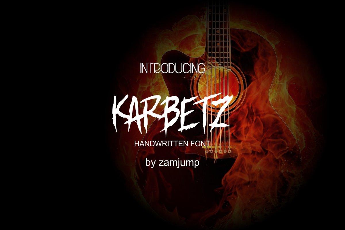 KARBETZ handwritten font example image 1