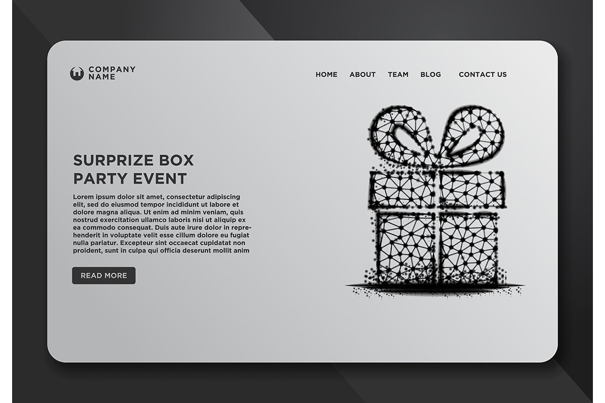 Web page design templates collection of Gift Box Celebration example image 1