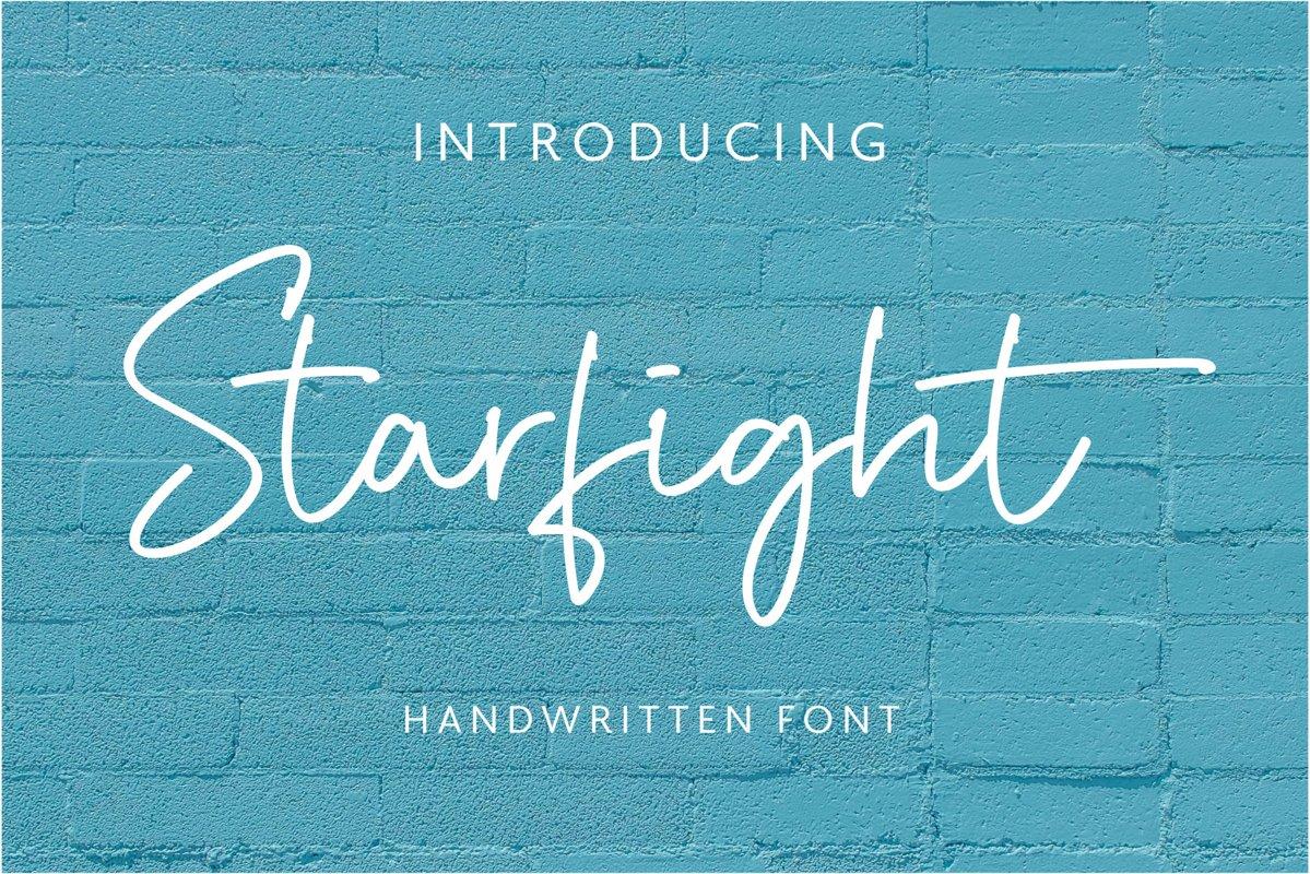 Starfight   Handwritten Font example image 1