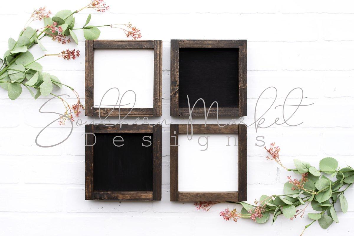 6x6 Wood Sign Mock Up Farmhouse Styled Photo example image 1