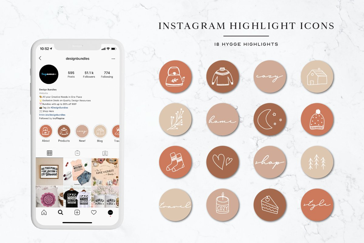 Hygge Instagram Highlights Icons | Instagram Stories example image 1