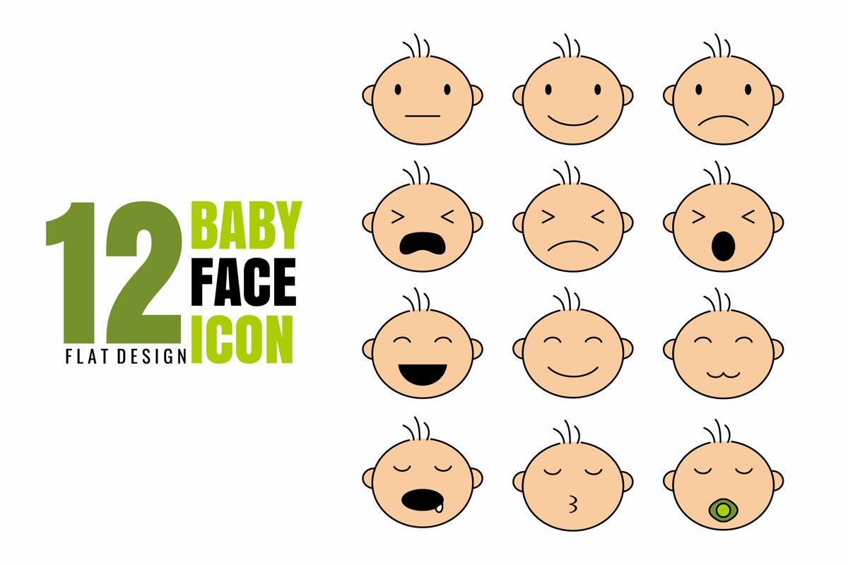 12 Baby Face Icon example image 1