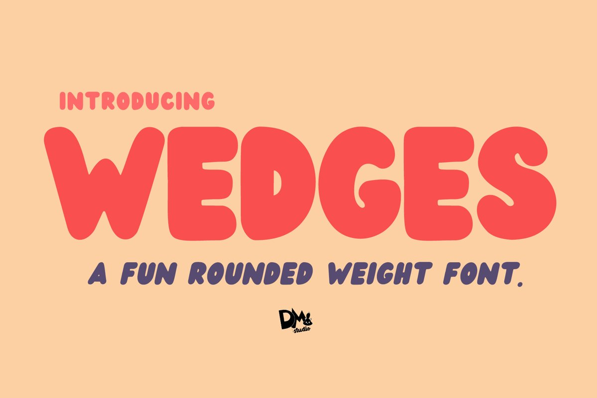 Wedges - Fun Rounded Weight Font example image 1