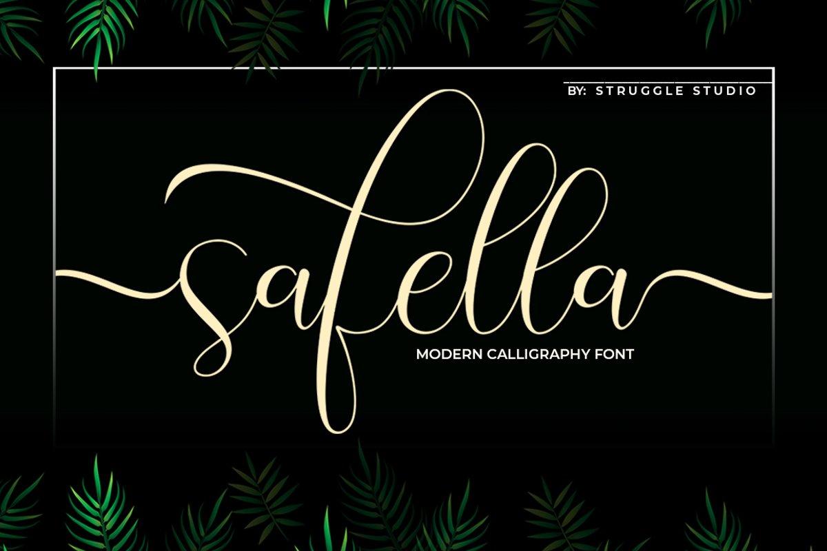 Safella - Modern Calligraphy example image 1