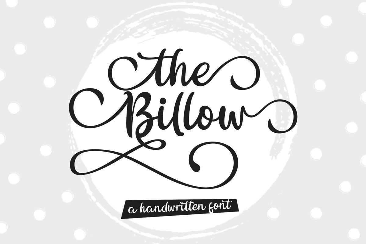 The Billow | A handwritten sweet font example image 1