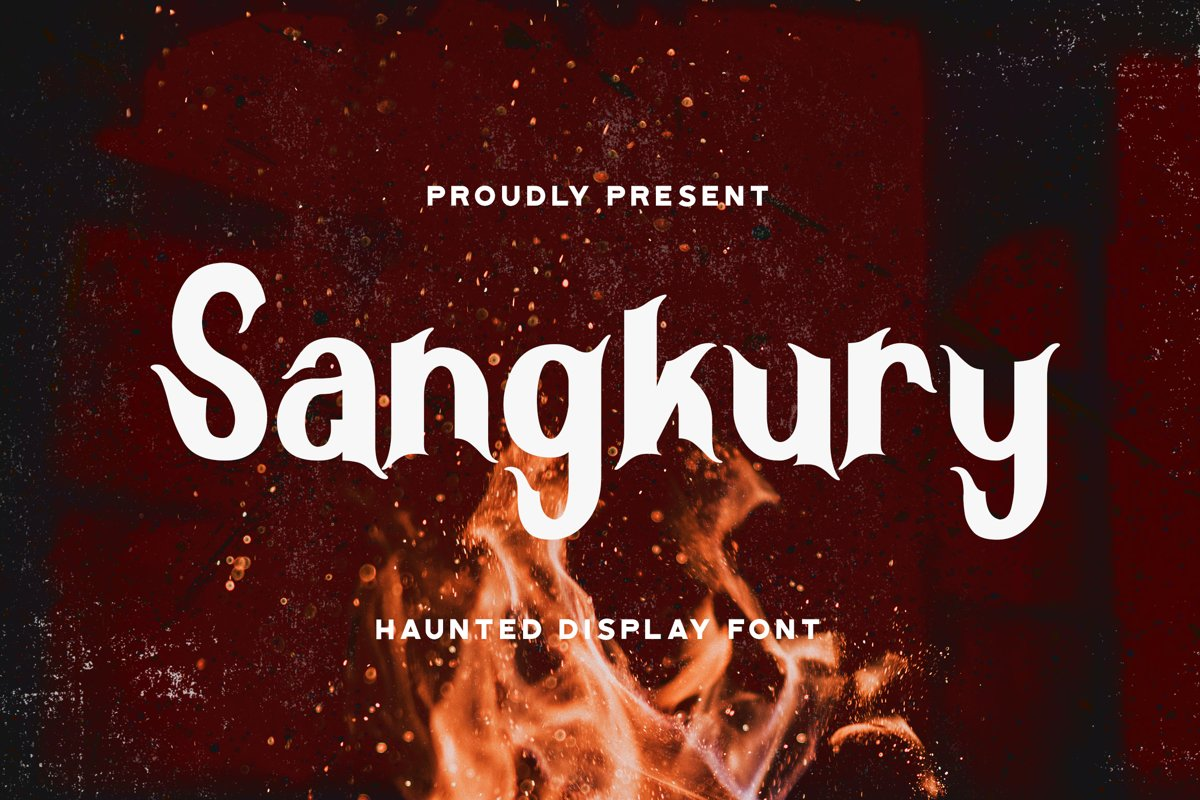 Sangkury - Haunted Display Font example image 1