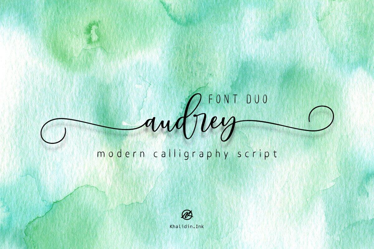 audrey Script | Font Duo example image 1