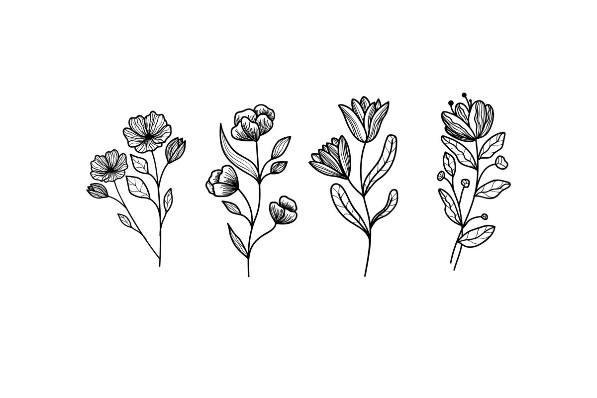 Hand Drawn Herbs & Wild Flowers example image 1
