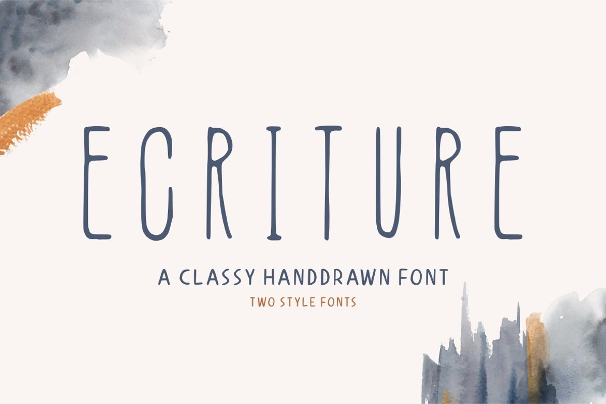 Ecriture || Handdrawn Font example image 1