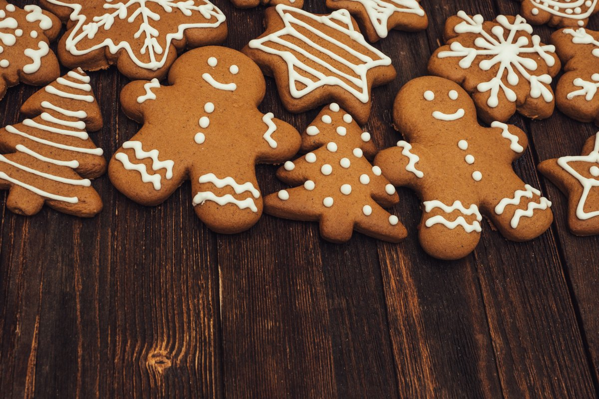 Christmas cookies background. example image 1